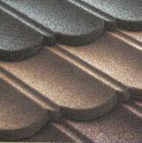 Azulejo de azotea de acero con las virutas de piedra cubiertas (azulejo de madera)