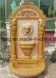 Outdoor Yellow Marble Appears Statue Toilets Fountain, Wall Fountain in Stone Garden Products