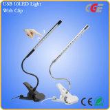 Flexible Klipp-Anzeigen-Licht-LED Buch-Lampen des Klipp-Tisch USB-LED Tisch-der Lampen-LED