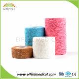 Neue Produkt-unterschiedlicher farbiger Baumwollanhaftender elastischer Bindeverband