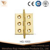 Scharnier van het Slot van het Messing van de Hardware van de Deur van het Kogellager de Interne Gouden (Hg-1006)
