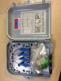 Montaje en pared FTTH ABS+PC 8 Puertos de fibra óptica de la caja de terminales IP65