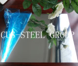 ミラー反射アルミニウムロールか青いフィルムのクラッディングミラーアルミニウムシート