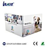 Folheto video de venda superior do Cartão-Vídeo do Cartão-LCD do cumprimento video da polegada TFT LCD dos produtos 6