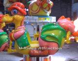 Machine tournante de jeu d'avion de dinosaur