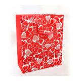 Custom напечатано магазинов упаковки бумажных мешков для пыли (YH-PGB095)