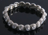 Мода цинк сплав по Crystal Silver раунда растянуть браслет