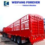 Semi Aanhangwagen van de Vrachtwagen van het Nut van de Lading van de Staak van de Omheining van de Band van de triAs de Enige of Dubbele voor Verkoop