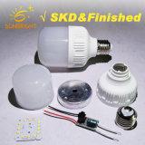 5-15W plástico PBT Alumínio SKD lâmpada LED de matérias-primas