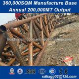 ISOの鋼鉄プレハブモジュラー管状の鉄骨構造