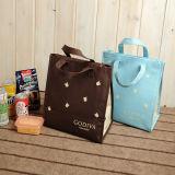 ロゴの顧客用非編まれた絶縁されたより涼しい袋および昼食またはピクニックのためのジッパーの閉鎖