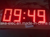 Exterior IP65 de gran tamaño Reloj LED indicador de temperatura (verde).