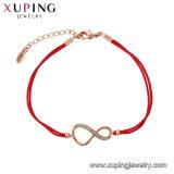 Xuping優雅なローズの金カラーブレスレット