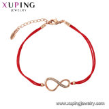 Elegante Xuping Rose Bracelete cor dourada