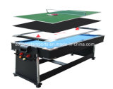 4en1 multifonction de rotation de la piscine de billard, ping-pong, Air Hockey Tables