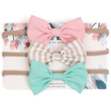 Kids Hairbandsのための赤ん坊Girls Big Bow Kot Elastic Hair Bows