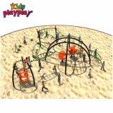 子供ロープのプラスチック遊び場屋外の上昇の純タワーの運動場