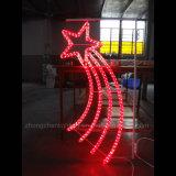 Adornos de Navidad Navidad polo de la calle LED montado en la decoración de la luz de Motif