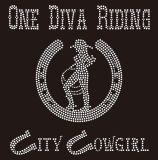Transferência Rhinestone Cowgirl Pedra clara para a T-shirt Design
