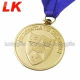 記念品の金属のクラフトはリボンが付いているダイカストメダルを