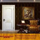 Porte d'intérieur en bois massif en bois de peinture naturelle (GSP2-075)