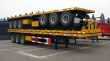 3 Aanhangwagen van de Container van de as Flatbed