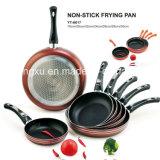 Ручка покрыла алюминиевую Non-Stick сковороду для комплектов Sx-Yt-A017 Cookware