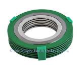 Ti y la espiral de metal de níquel herida junta con el anillo exterior