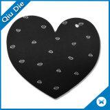 Nombre de la marca negra en forma de corazón Etiquetas Etiquetas ropa para niños