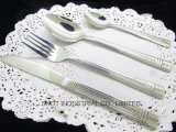 Jeu de vaisselle plate de cuillère de fourche de couteau d'acier inoxydable de constructeur de vaisselle plate