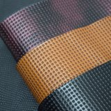 Rundes geprägtes doppeltes FarbeFaux PU-Leder, Schuh-Leder