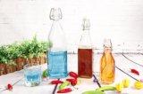 3 Fles van het Glas van de Thee van het Sap van de Olie van de grootte galvaniseert de Vierkante Praktische met of de Klem van het Roestvrij staal