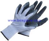 Doublure en polyester à 10 épaisseurs, revêtement latex, gant de finition arrondie
