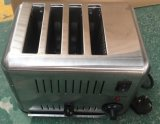Venta caliente comercial tostador acero inoxidable con 4 divisiones (HET-4)