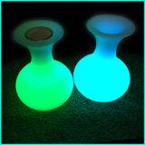 Disegno illuminato del vaso del cubo di Lighitng dell'altoparlante con l'altoparlante di Bluetooth con la lampada
