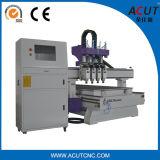 Machine multi de couteau de commande numérique par ordinateur de travail du bois d'opération d'axe d'Atc 4 de professionnel
