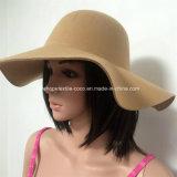 형식 Floppy Hat 넓은 테두리를 가진 다채로운 가짜 모직 숙녀의