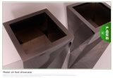 De geborstelde Vierkante Bloempot van het Roestvrij staal