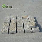 Granito natural que pavimenta a pedra de pedra da rua da pedra do jardim da pedra de pavimentação da entrada de automóveis do cubo