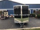 Novo trailer de carga fechado V-Nose 7X16 com rampa