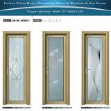백색 색깔 황금 색깔 나무로 되는 색깔을%s 가진 알루미늄 여닫이 창 문