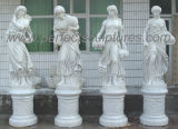 Мраморный камень скульптуры высеканный статуей высекая для украшения сада (SY-X1569)