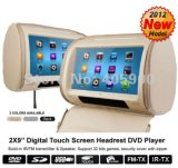 2X9  32bit Games+Zipper Cover、2 IR HeadphoneのHD Touch Screen Headrest Car DVD Player