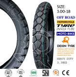 La motocicleta resistente africana del neumático parte el neumático 3.00-18 de la motocicleta del neumático de la motocicleta de la moto