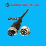 熱い販売の金の製造者2-12 Pinは5台のピンコネクタを防水する