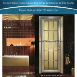 Les portes à battants en aluminium pour la décoration intérieure avec des plantes ornementales