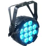 무선을%s 가진 옥외 12*15W RGBWA UV LED 호리호리한 편평한 동위 빛