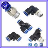 3 rapides en plastique de voie branchent les garnitures pneumatiques de poussée de connecteurs pneumatiques de garnitures d'air