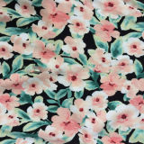 Fabricant de tissu viscose imprimé floral d'alimentation pour les filles sexy robe