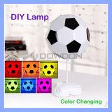 DIY USB-Fußball-Lampen-handgemachte Nachtleuchte-Schreibtisch-Lampen-bunte Kopfende-Lampe